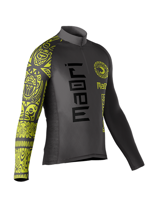 Camisa Maori Cinza Manga Longa