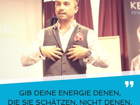 Deine Energie ist wertvoll und einzigartig