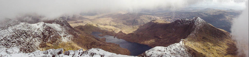 View from the summit of Snowden