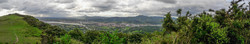 """The """"brutal"""" route pay off! View from Santa Barbara Dorrea tower back to Irún and France."""