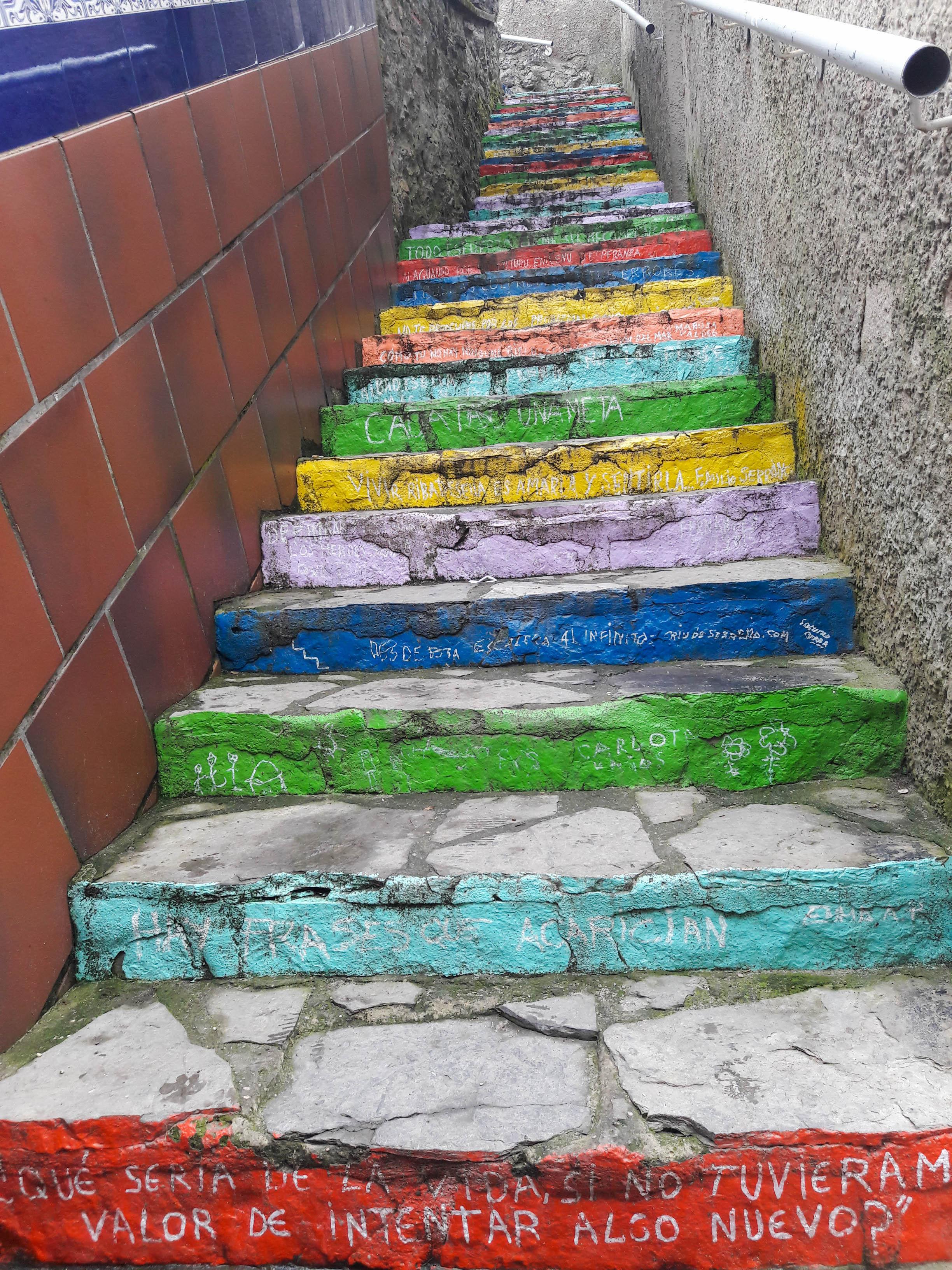 Las Escaleras de Colores, Ribadesella, Asturias