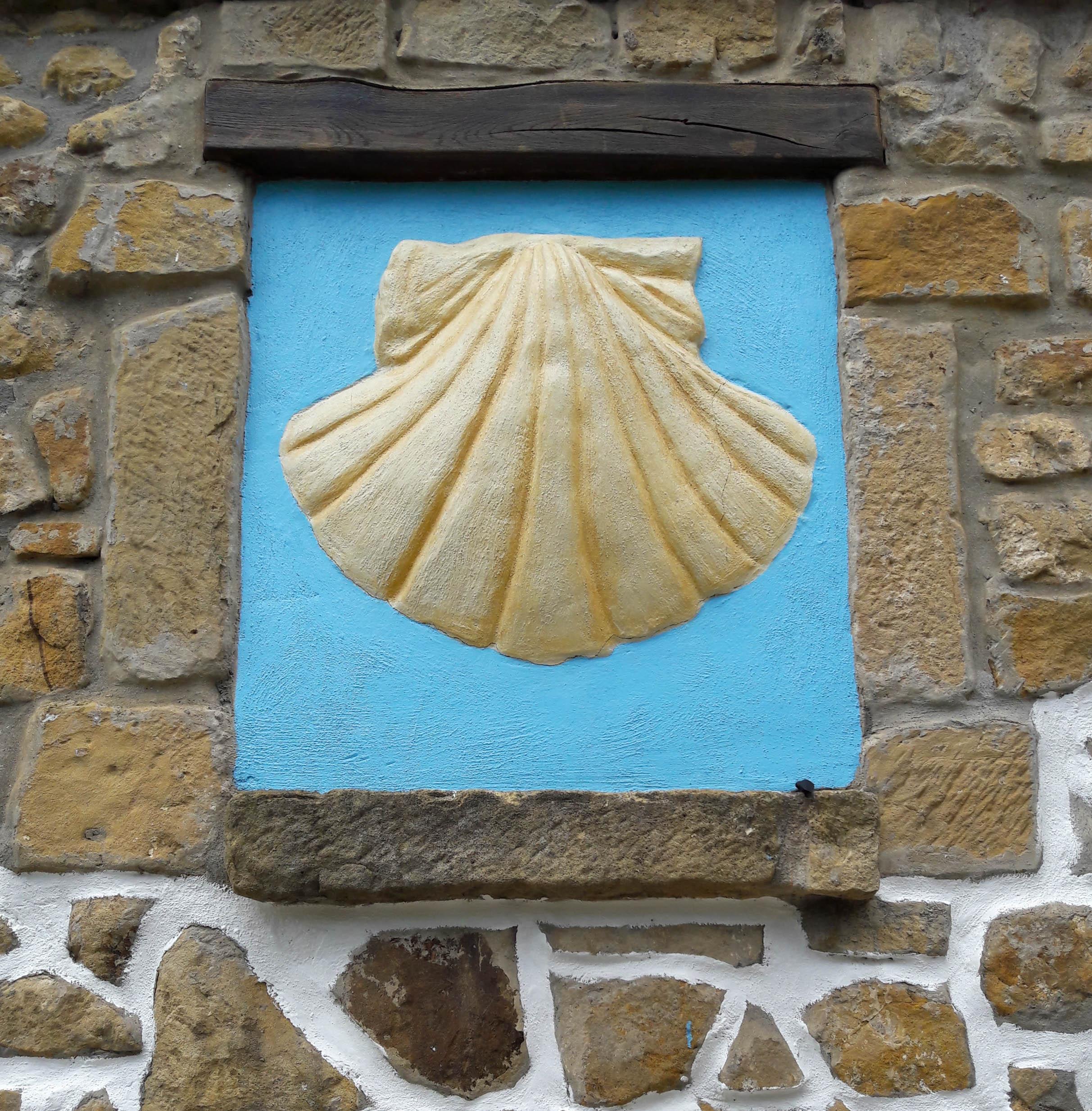 Scallop shell at Santa Ana Ermite, Pasajes