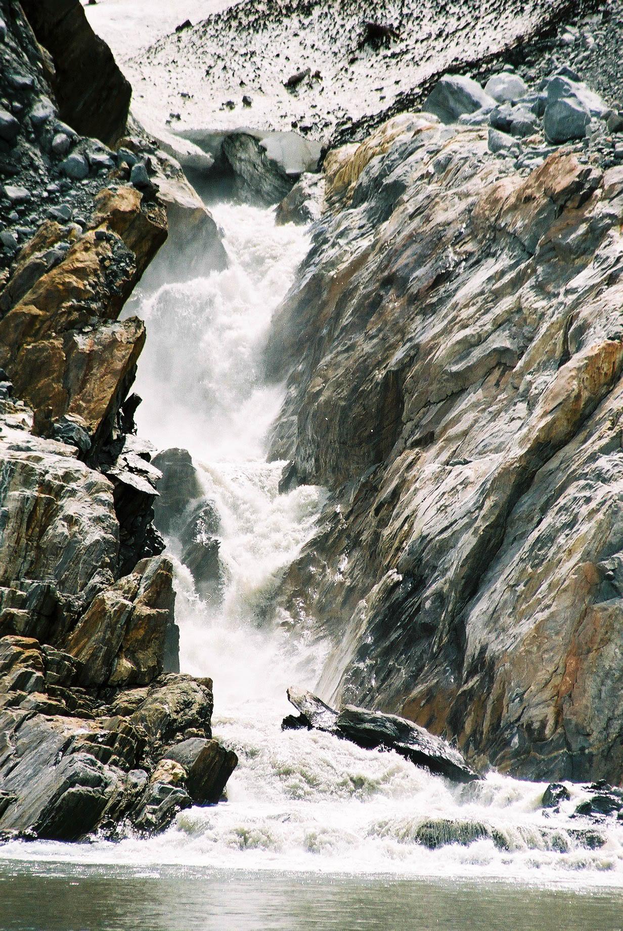 Waterfall at South Sawyer Glacier