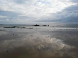 Playa de Noja cloud reflections