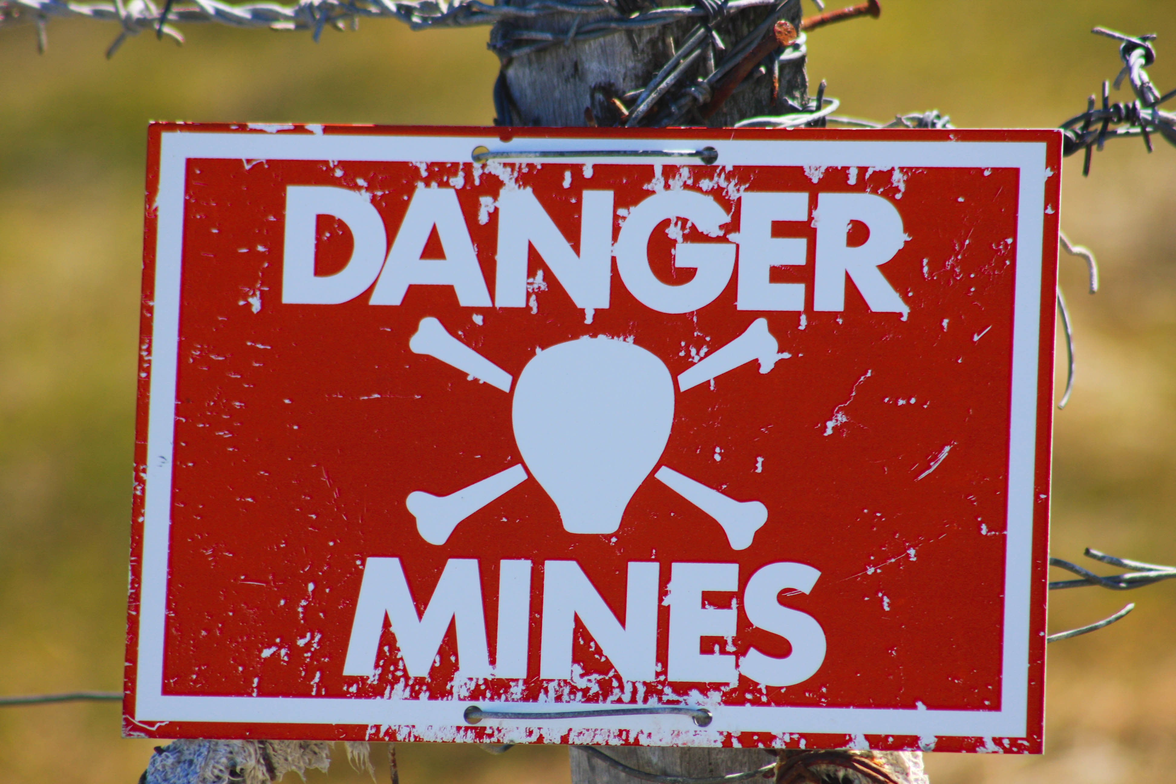 Minefield, Stanley, The Falklands