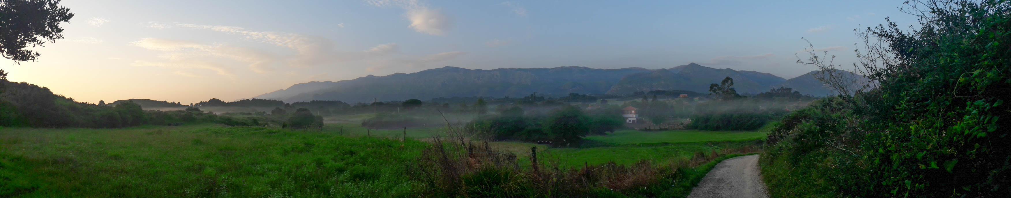 Sunrise on a misty morning, Asturias