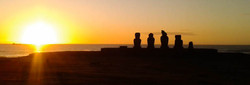 Ahu Vai Uri sunset panoramic