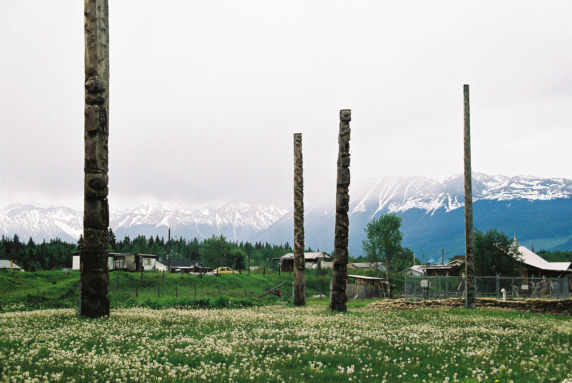 Kis'pioux totems, British Columbia