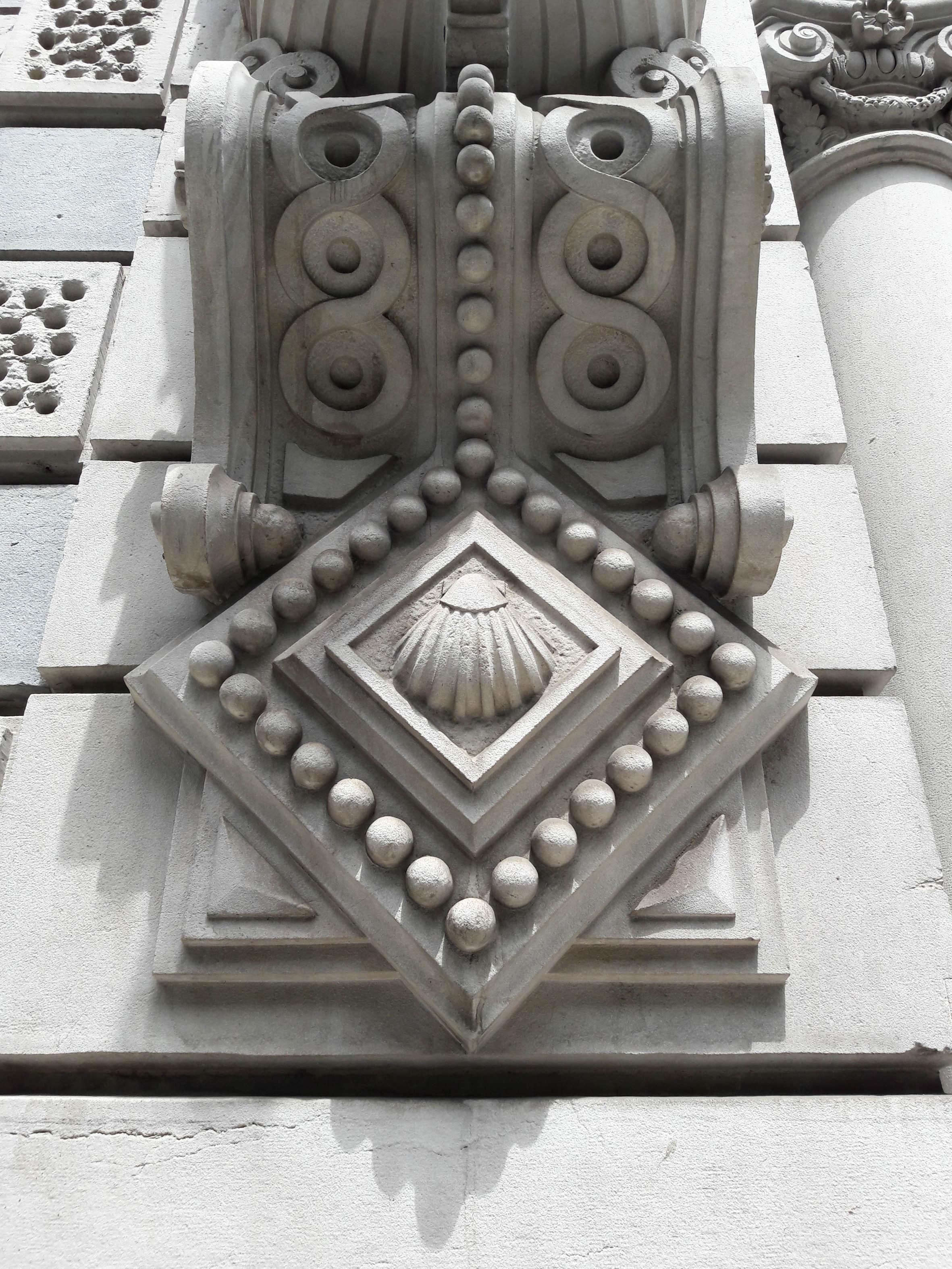 Scallop shell detail