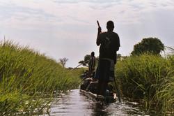Makoros on the Okavango Delta, Botswana.