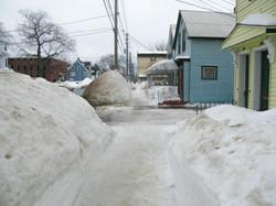 Snow piled high, Fredericton, New Brunswick