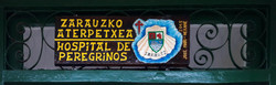 Zarautz albergue sign