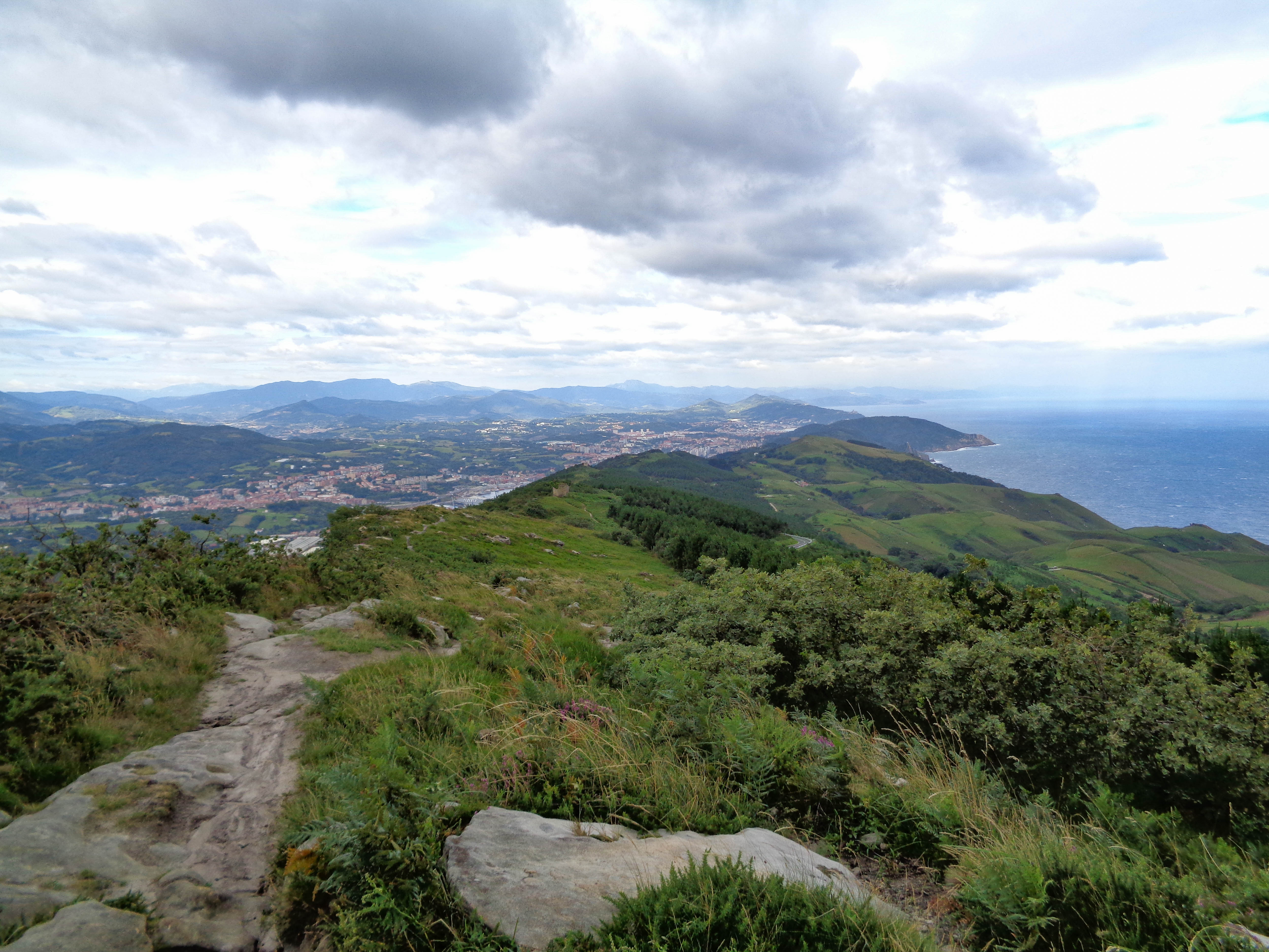 View over the Basque Country