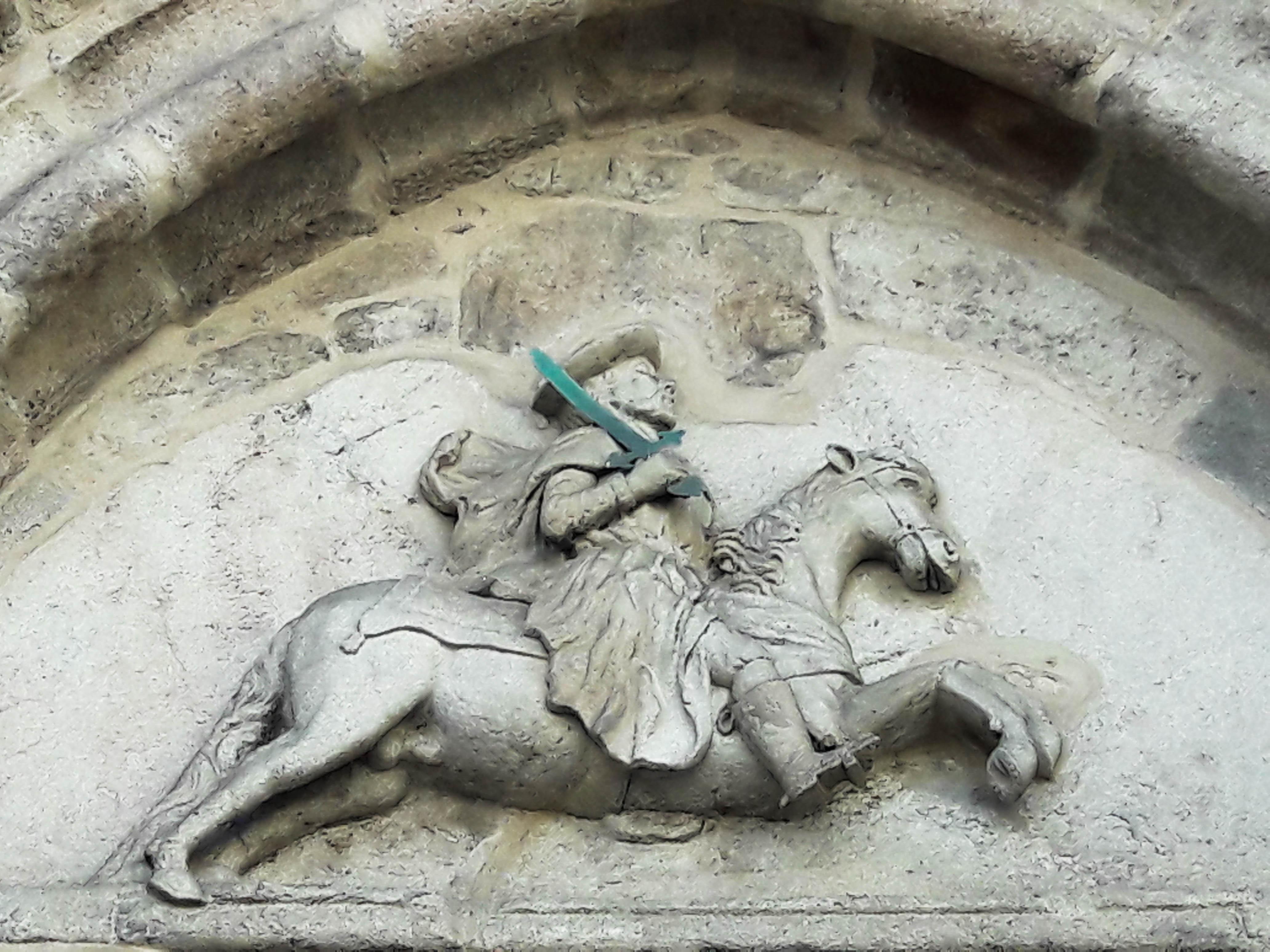 Santiago detail, Iglesia de Santiago, A Coruña, Galicia