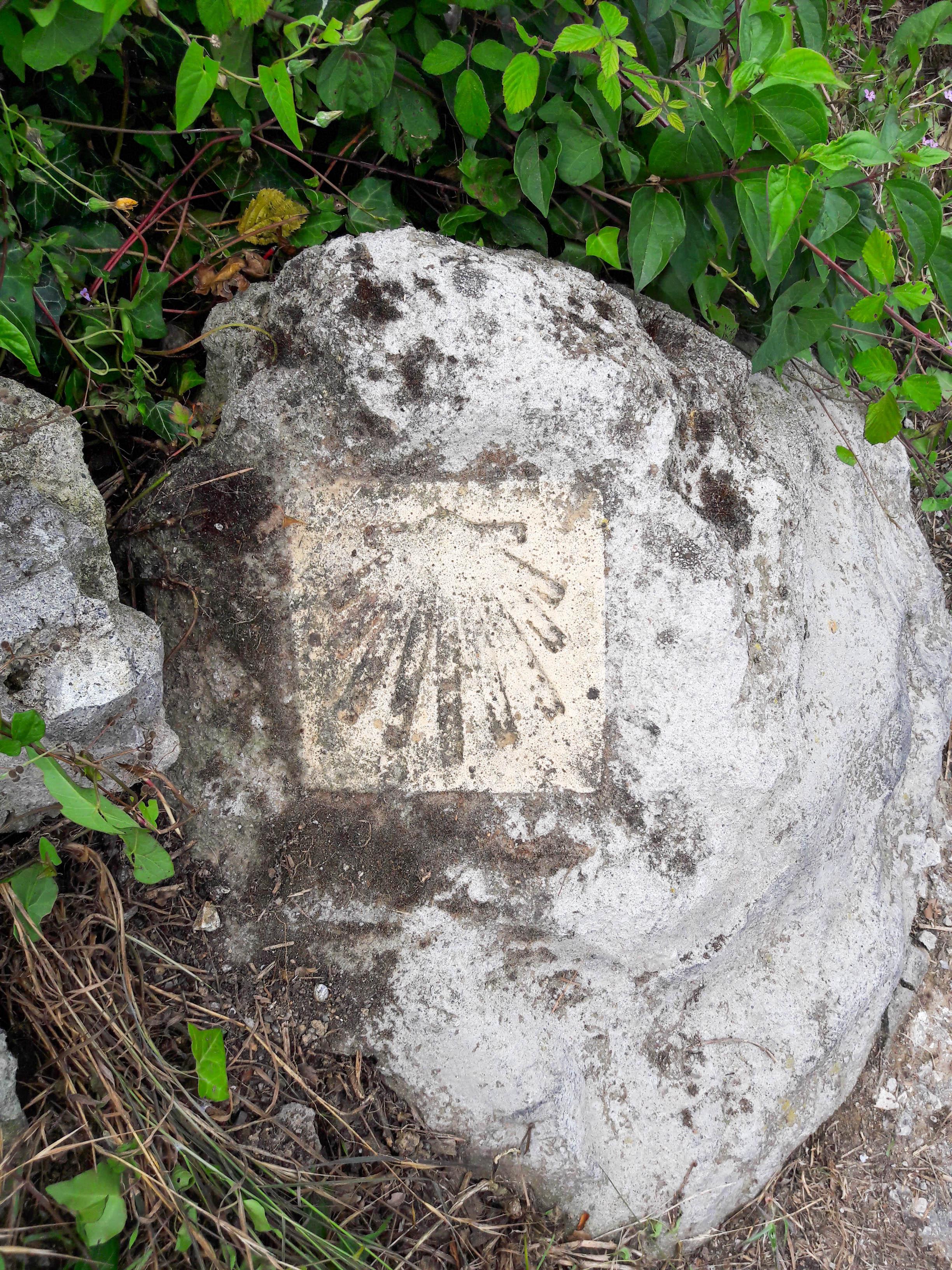 Worn waymarker, Cantabria