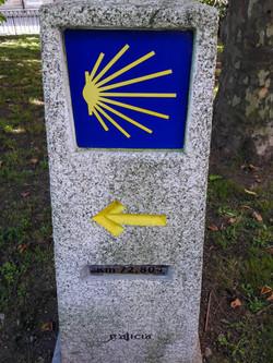 72.8km to Santiago waymarker, A Coruña, Galicia