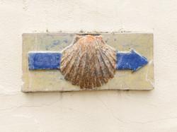 Ceramic waymarker, Cedigo, Cantabria