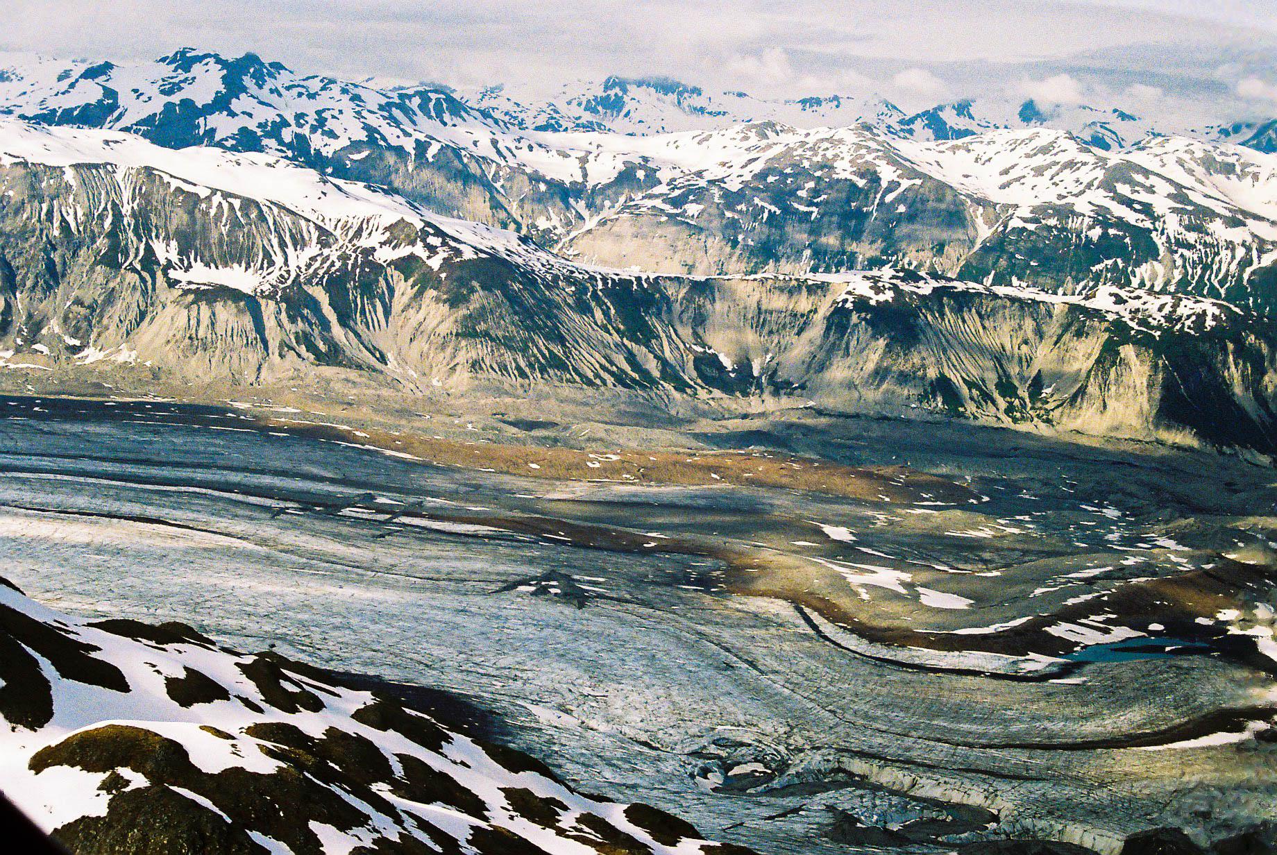 Medial moraine, Glacier Bay NP