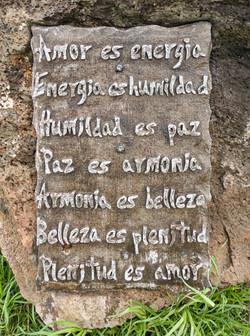 Inscription at Hitu Merahi sculpture