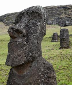Moai head at Rano Raraku