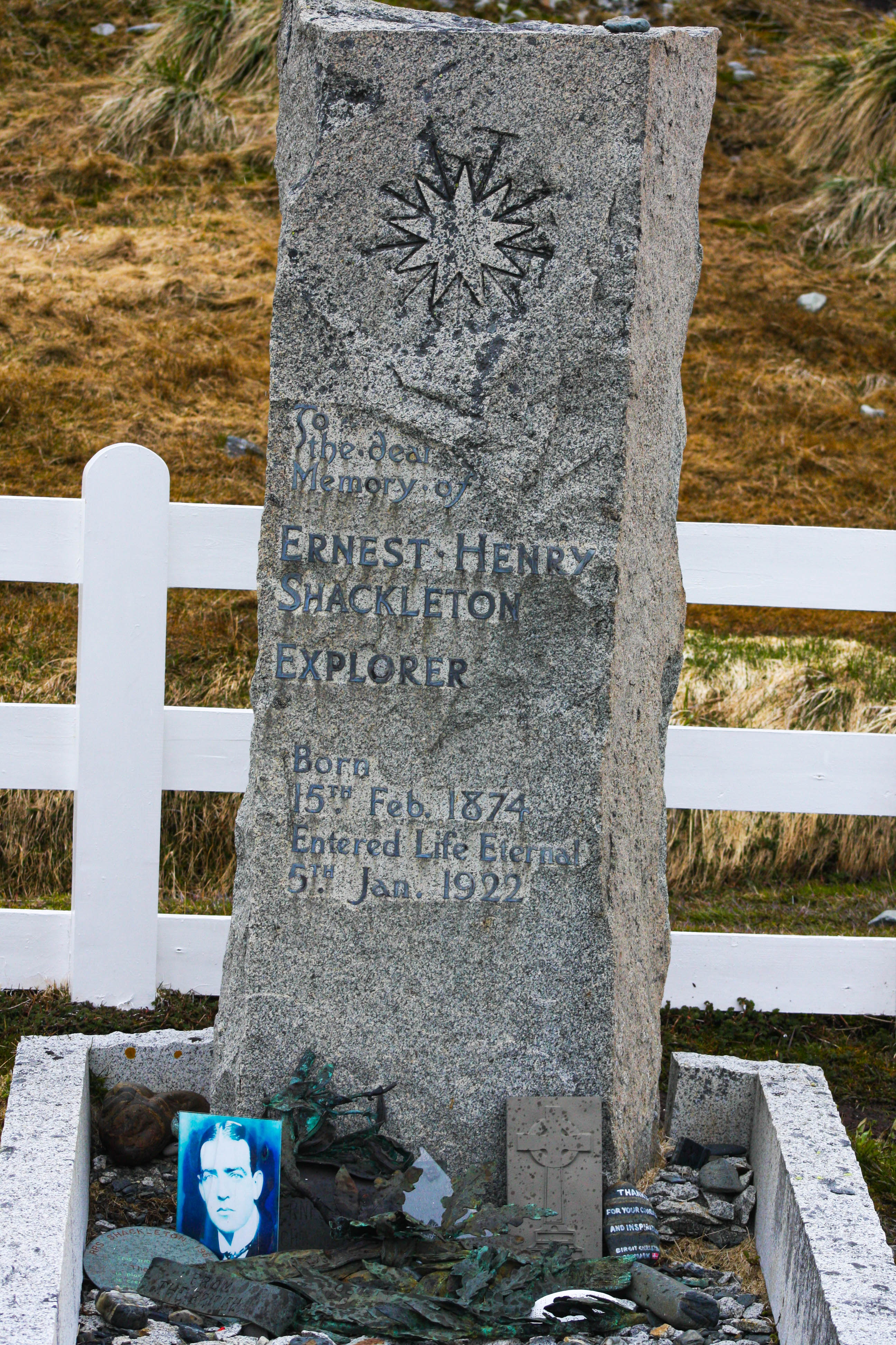 Shackleton's Grave, Grytviken, South Georgia