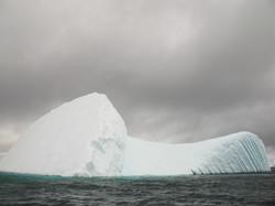 Toppled ice, Pléneau Island, Antarctica
