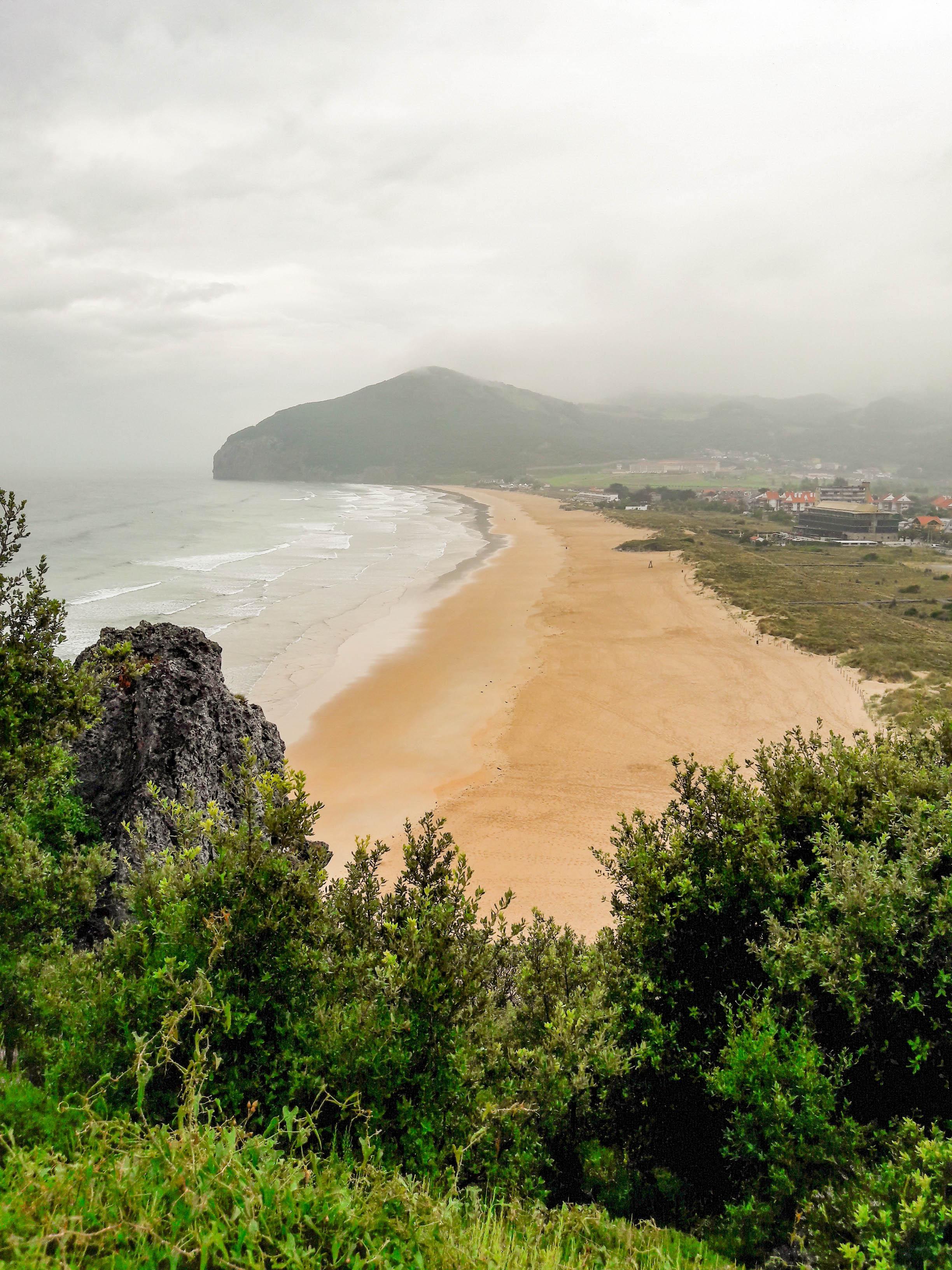 Misty morning over Playa de Berria