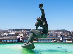 Fuente de los Surfistas CU, A Coruña, Galicia