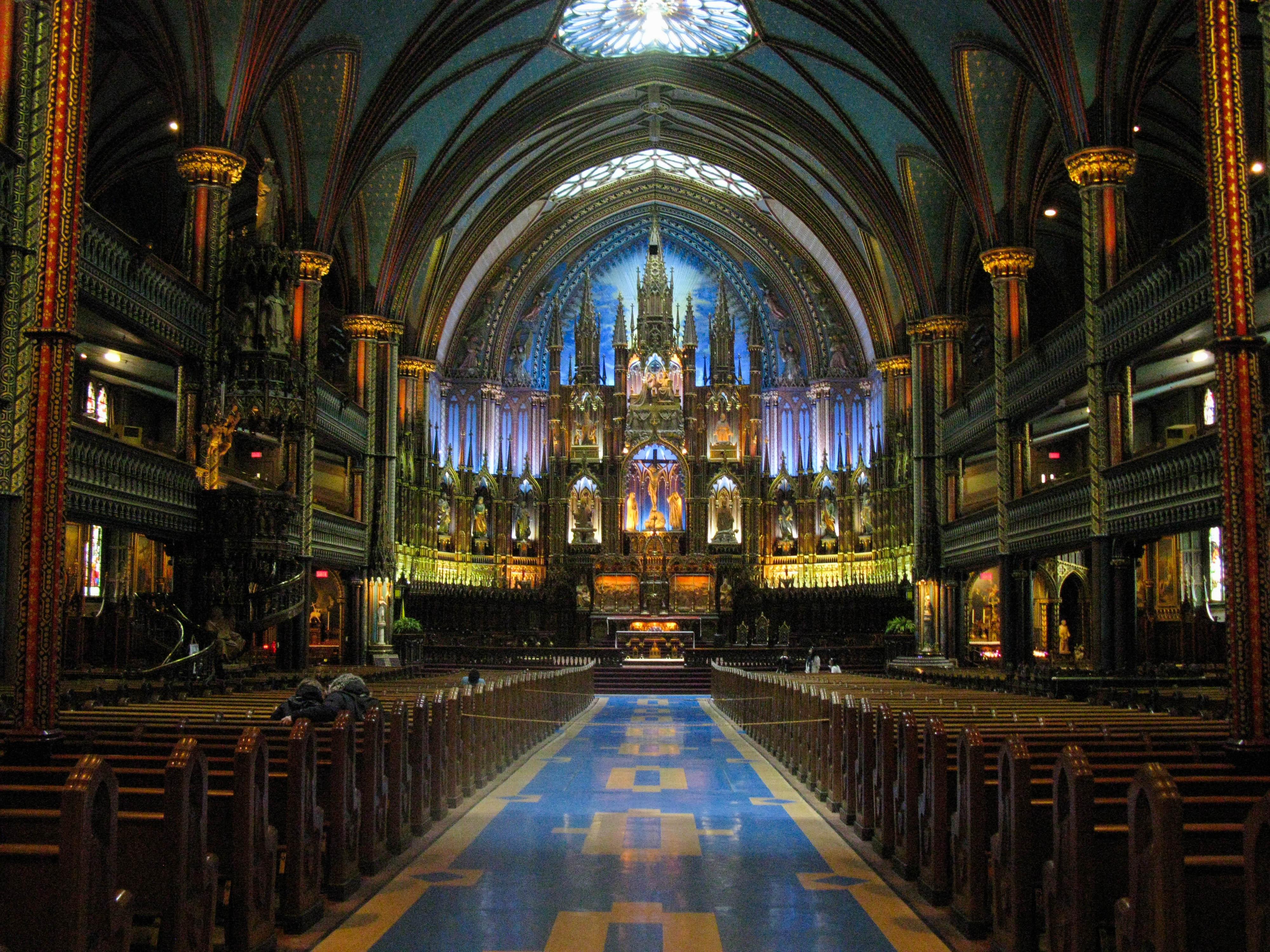 Notre-Dame Basilica and pulpit, Montréal