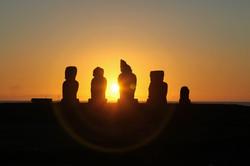 Sunset at Ahu Vai Uri