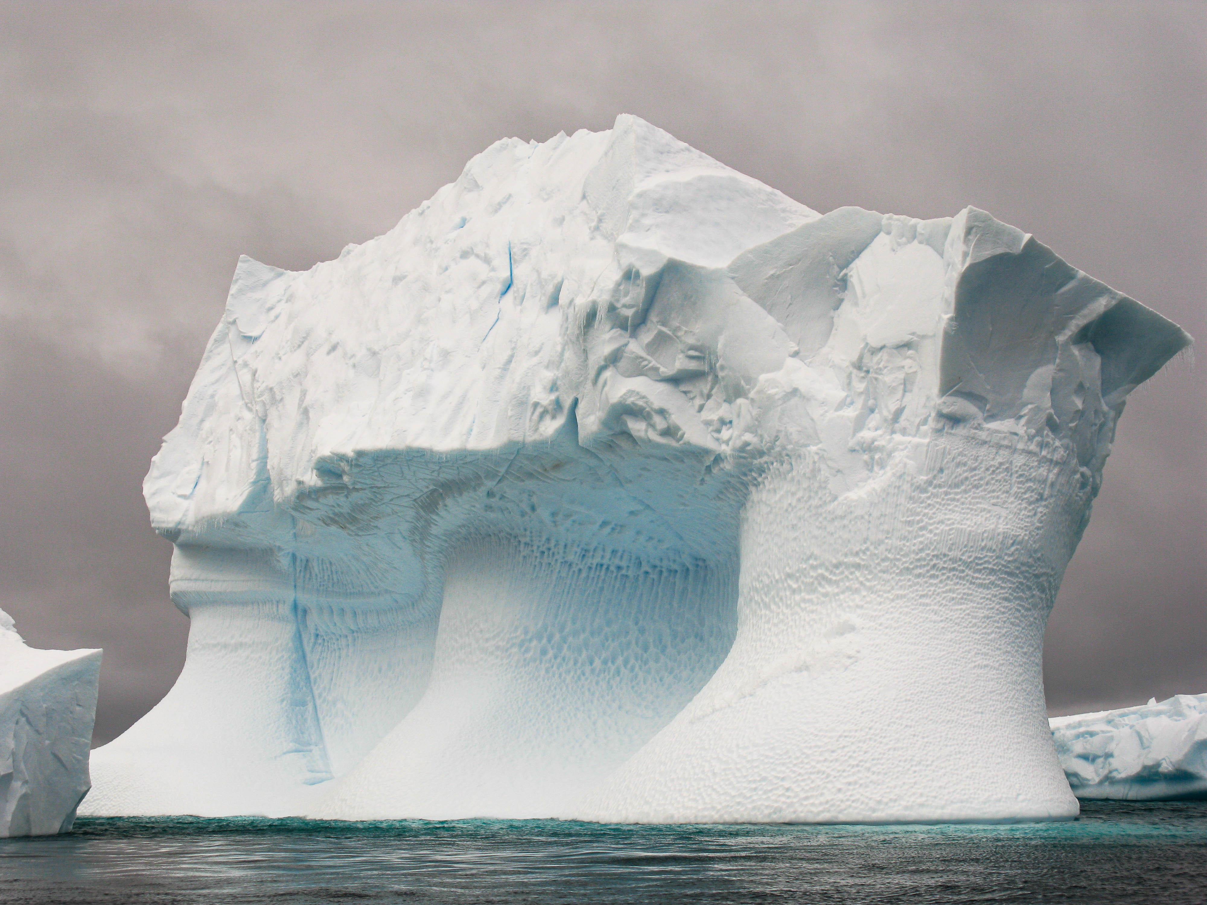 Wind-sculpted ice 1, Pléneau Island, Antarctica