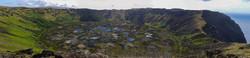 Rano Kau caldera panoramic