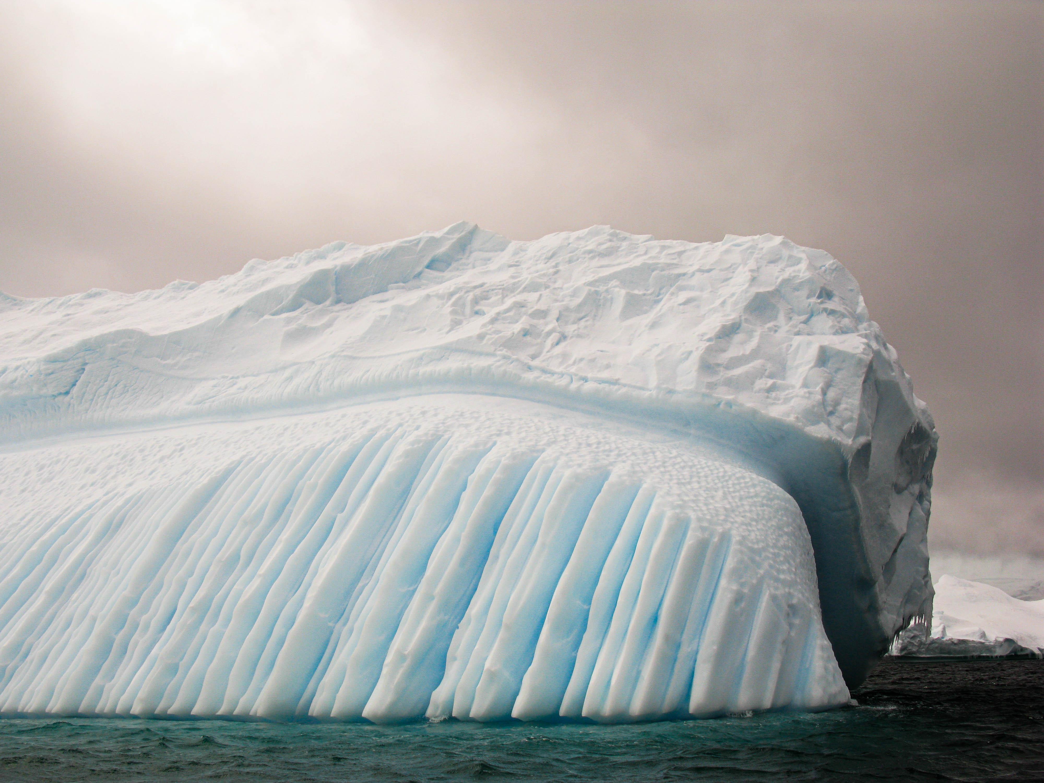 Wind-sculpted ice 3, Pléneau Island, Antarctica