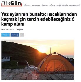 Birgün Gazetesi Keçi Camping'i 1. sıraya koydu