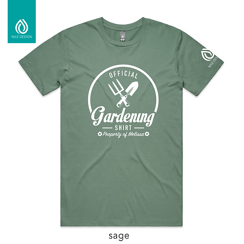 Personalised Gardening T-shirt