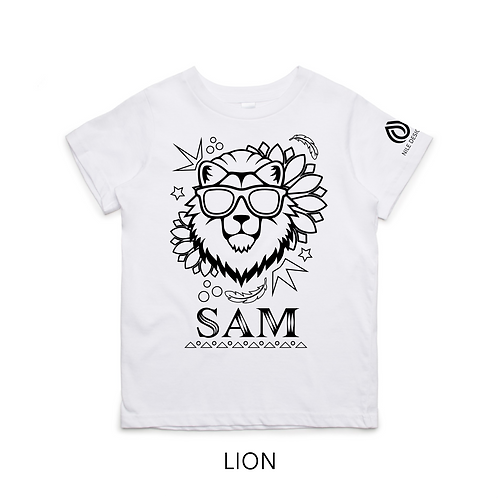 Kids Personalised Colouring In T-shirts - 8 DESIGN OPTIONS!