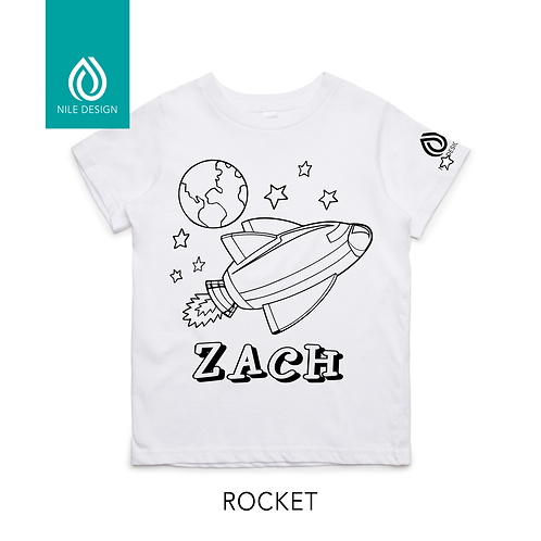 Kids Personalised Colouring In T-shirts