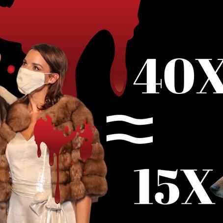 Kihalás szélén lévő állat bundáját viselte Berki Krisztián felesége a Glamour Gálán