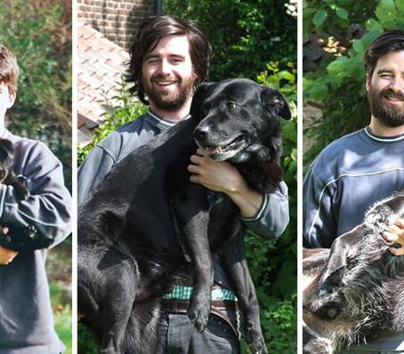 Szívszorító fotókkal köszönt el egy 30 éves férfi hűséges kutyájától