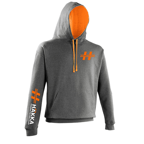 Charcoal and Orange Crush Hoodie