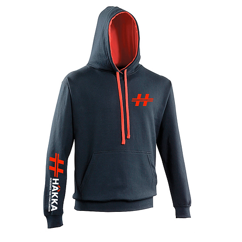 Navy and Red Hoodie
