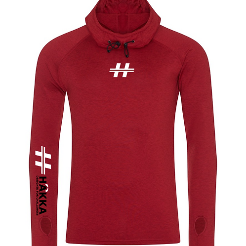 Red Cowl Neck Hoodie