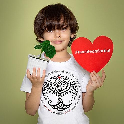 Camiseta niño/a #SUMATEAMIARBOL