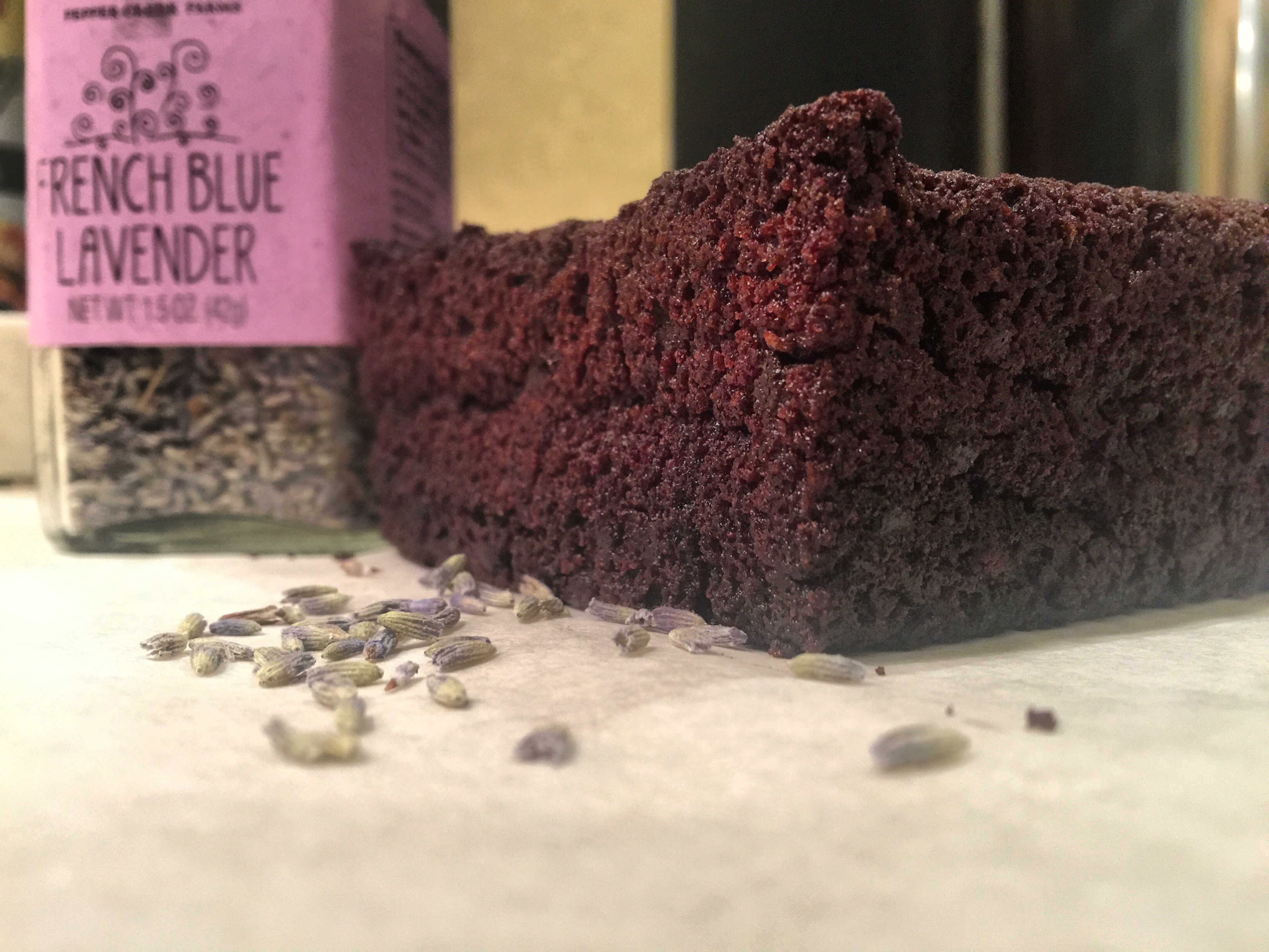 Lavender Choclate Brownie