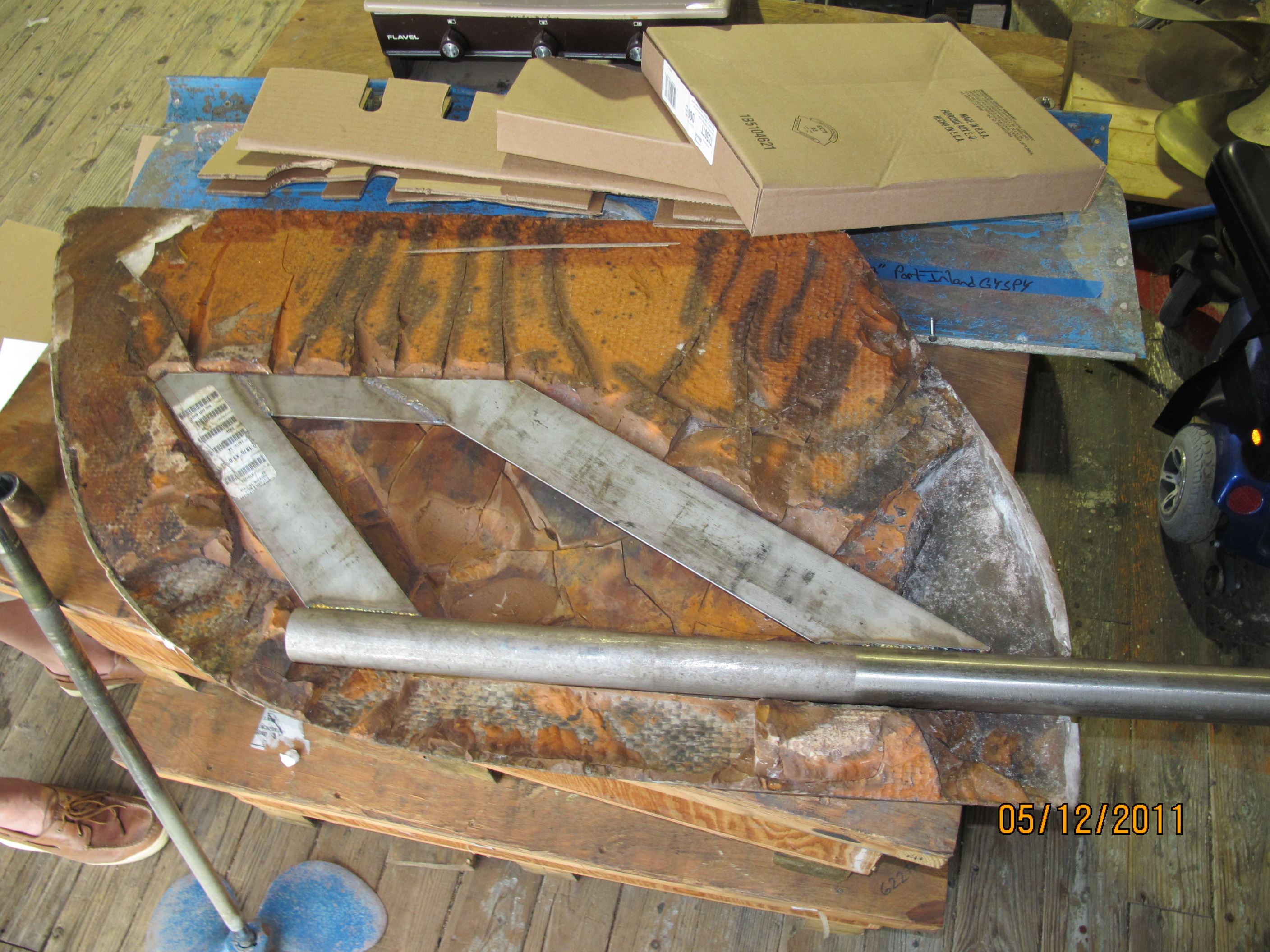 Rudder With Broken Welds