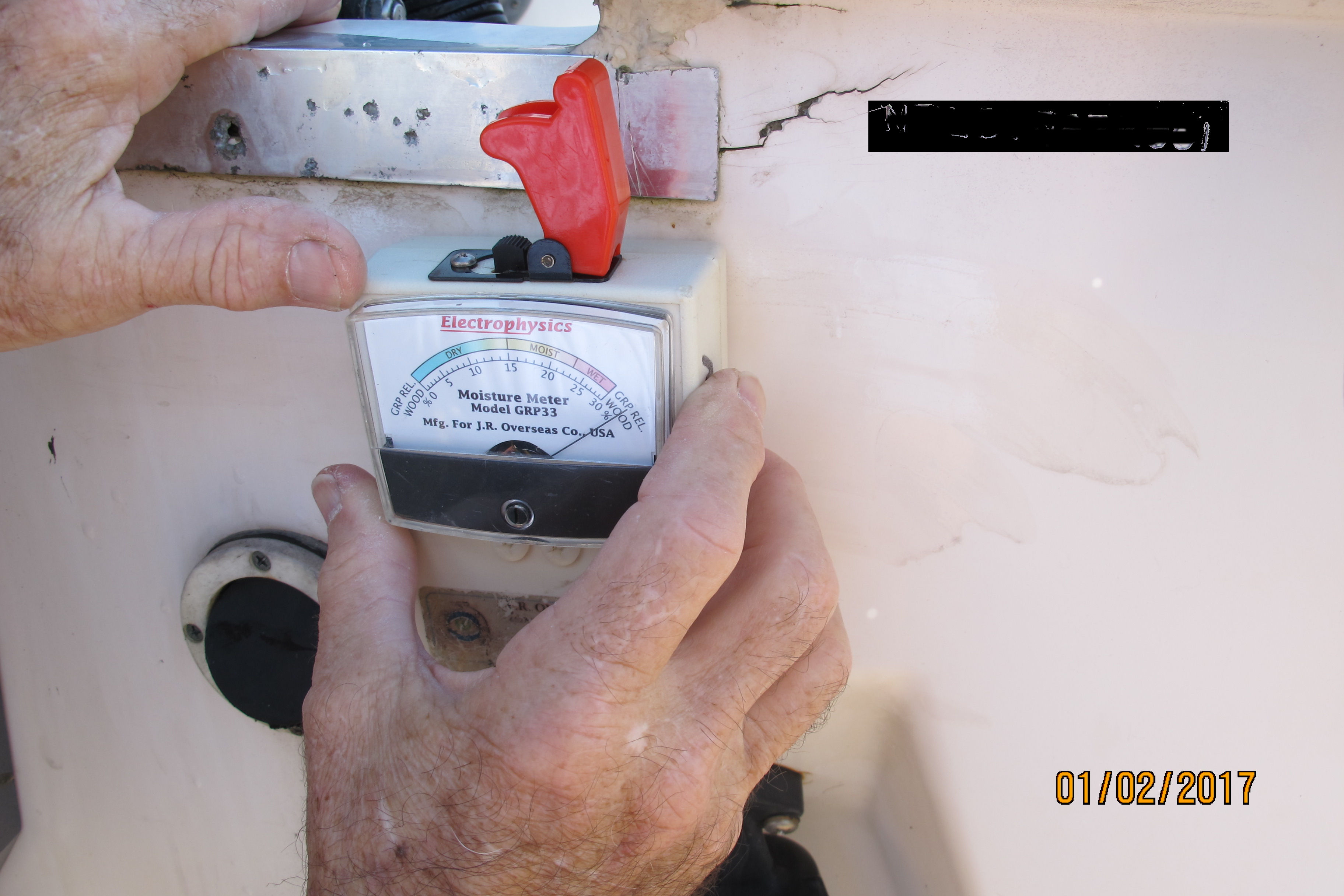 Moisture Meter On Transom