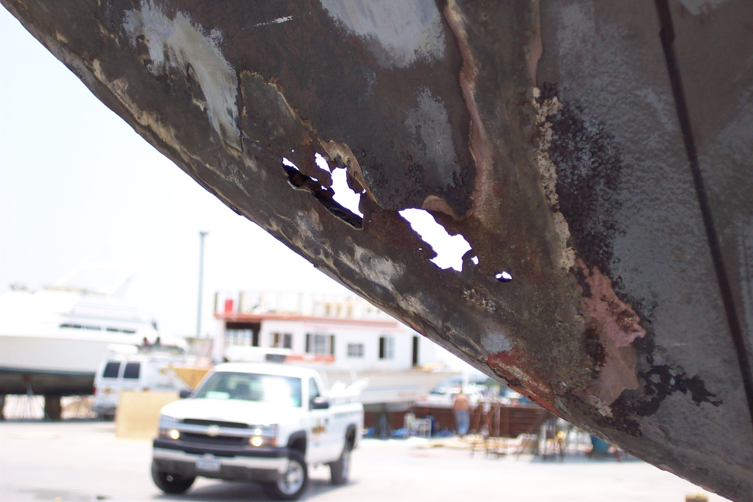 Rusted Sailboat Hull