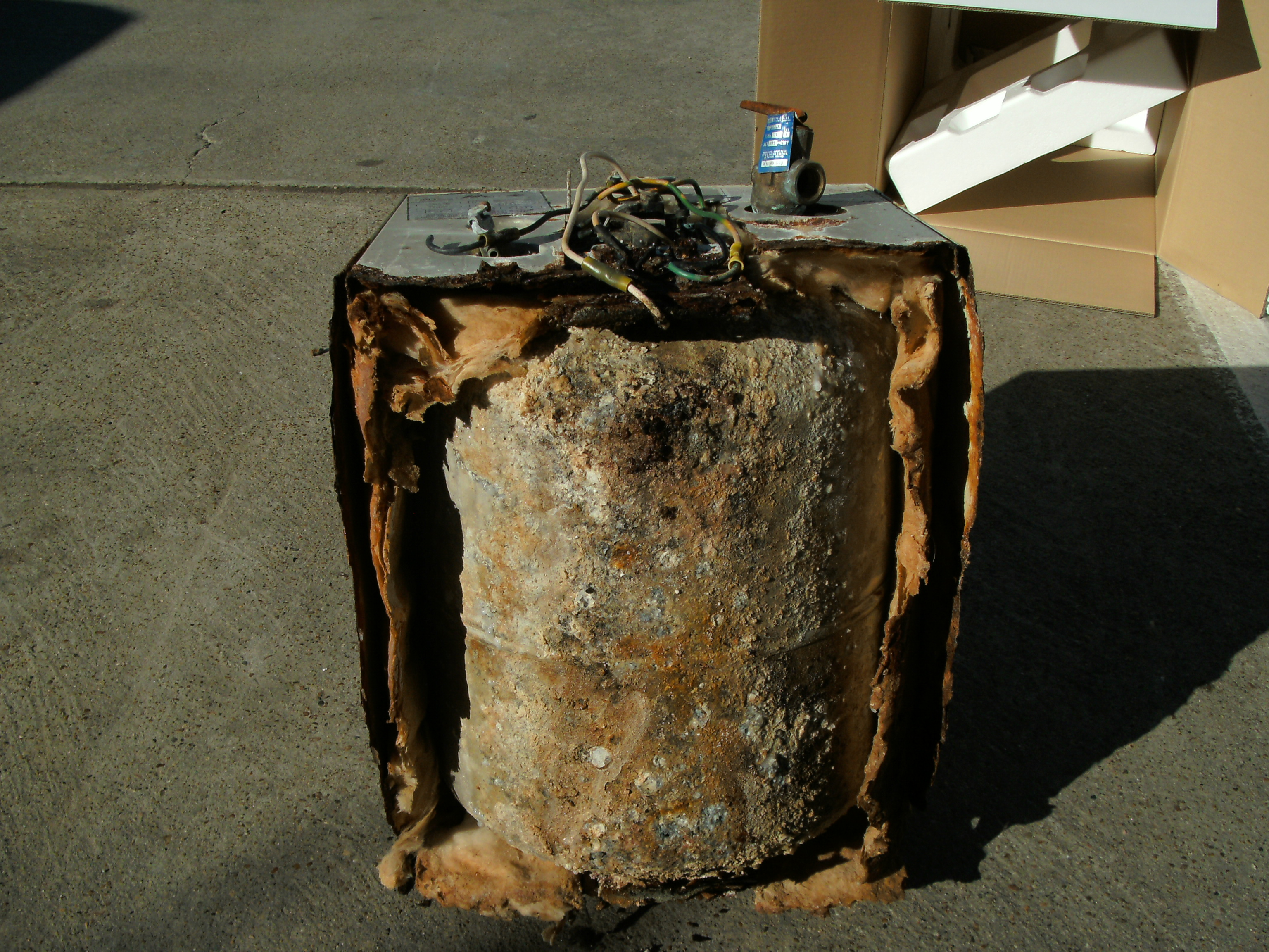 Rusted Water Heater Bottom