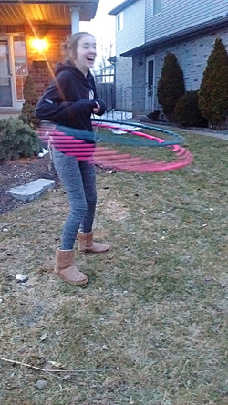 Hooping with friends is fun!