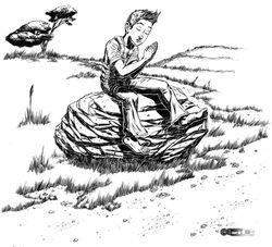 Chapter Illustration - Praying (ink)